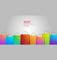 best shopping tour background with shopping bags vector image vector image