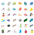 bicycle icons set isometric style vector image vector image