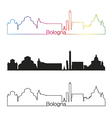 Bologna skyline linear style with rainbow vector image vector image