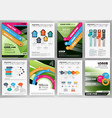 business infographics and backgrounds set vector image vector image