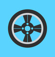 car wheel flat icon on background vector image vector image
