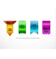 clean glossy bookmarks vector image