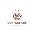 coffee lab logo icon vector image vector image