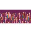 colorful birthday candles horizontal seamless