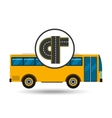 connectible road bus transport public vector image