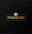credit card logo premium gold card on black vector image