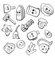 cute cartoon items for cleaning vector image