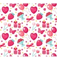 cute seamless pattern valentines day vector image vector image