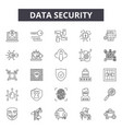 data security line icons signs set vector image vector image