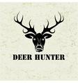 deer head on grunge background vector image vector image