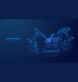 digital wireframe web development concept vector image vector image
