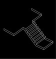 Drawing of a Reinforced Cement Concrete stair vector image vector image