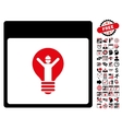 electrician calendar page flat icon