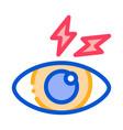 eye ache icon outline vector image