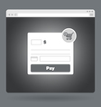 Flat browser window with form payment vector image vector image