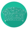 Flat icon of couch vector image vector image