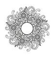 floral mandala zentangl vector image vector image