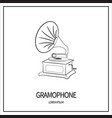 gramophone isolated icon vector image vector image