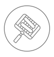 Grilled sausages on grate for barbecue line icon vector image vector image
