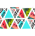 hand drawn abstract summer time collage vector image