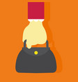 holding purse hand gesture graphic vector image vector image