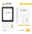 holy bible business logo tab app diary pvc vector image vector image