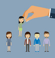 job recruiting recruitment by employment company vector image