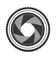 lens photographic isolated icon vector image