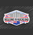 logo for auckland vector image vector image