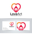 love art logo design vector image vector image