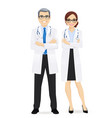 male and female doctor vector image