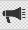 megaphone speaker icon in flat style bullhorn vector image vector image