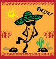 mexican fiesta party invitation with dancin vector image