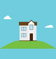 minimalist house design inspiration with blue sky vector image vector image
