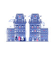minsk city gates belarus landmark in flat vector image vector image