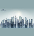 modern evening city skyline vector image vector image