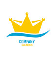 modern royal sailing ship and logo crown vector image