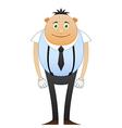 Modest office worker in suspenders vector image