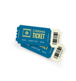 movie ticket blue cinema tickets isolated on vector image vector image
