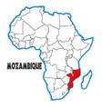 mozambique vector image vector image