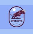 muscular bull vector image