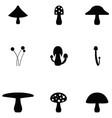 mushroom icon set vector image vector image