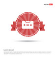 music tape icon - red ribbon banner vector image