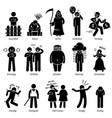negative personalities character traits stick vector image vector image