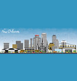 new orleans louisiana city skyline with gray vector image vector image