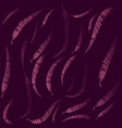 pattern of pink halves of leaves on a lilac vector image vector image