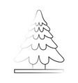 pine tree icon image vector image vector image