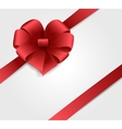red ribbon with bow vector image