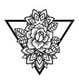 rose tattoo with string beads with sacred vector image