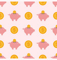 save money piggy bank flat design banking vector image vector image